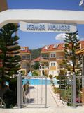 View on Hotel Kemer Houses. Kemer,Turkey royalty free stock image