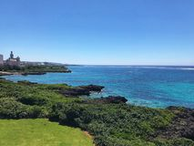 View from the hotel in Miyako Island, Okinawa, Japan stock photo