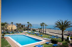 View from hotel. Nice view from hotel in spain Royalty Free Stock Image