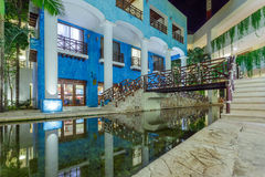 View on hotel at night at Mexico Stock Image