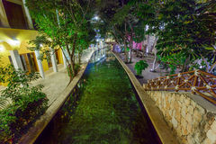 View on hotel at night at Mexico Royalty Free Stock Image