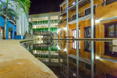 View on hotel at night at Mexico Stock Images