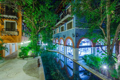 View on hotel at night at Mexico Stock Photography
