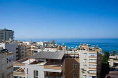 View from hotel room to sea Royalty Free Stock Image