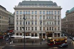 View of the Hotel Sacher. Vienna, Austria. January 31, 2017. View of the Hotel Sacher Stock Photography