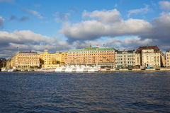 View of hotel in Stockholm. Nice view of Grand Hotel in Stockholm, Sweden Royalty Free Stock Image