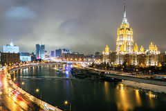 View of the hotel Ukraine Radisson Royal Hotel , Government Bui Stock Photography
