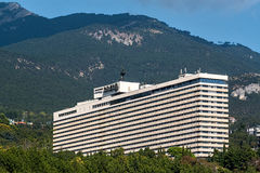 View of the hotel Yalta from seaside Royalty Free Stock Image