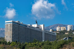 View of the hotel Yalta from seaside Stock Photos