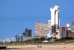 View of Hotels and Residential Buildings from Durban Beach Royalty Free Stock Photo