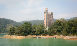 View of hotels in Sun Moon Lake Stock Photography