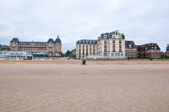 View of Houlgate in the Calvados department.  Normandy, France. Houlgate is a small tourist resort in northwestern France along the English Channel with a beach Stock Image