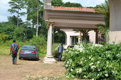 VIEW FROM THE HOUSE THE FORMER PRESIDENT LAURENT GBAGBO Royalty Free Stock Images