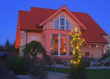 View on house with the garden Stock Photography