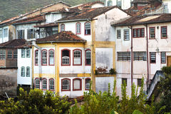 View of the house on the hill of the historical town Ouro Preto Stock Images
