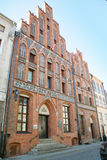 The view of the house of Kopernik in Torun Royalty Free Stock Photo