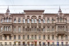 View of  house of Kosikovsky on Liteynyy  Prospect. Saint – Petersburg, Russia. August 2017 Royalty Free Stock Photos