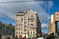 View of the house number 125, Ligovsky prospect. RUSSIA, SAINT PETERSBURG - AUGUST 18, 2017: View of the house number 125, Ligovsky prospect Royalty Free Stock Photo