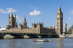 View of House of Parliament in London Royalty Free Stock Photos