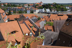 View of the house and roof Meissen Royalty Free Stock Photo