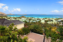 View of House in Saint Martin with Beach Stock Photos
