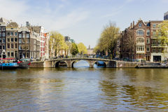 View on houseboats, Amsterdam, the Netherlands Stock Photography
