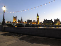View of The housees of parliament and Big Ben Cloc Royalty Free Stock Images