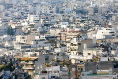 View of houses in Athens Stock Photo