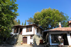 The view of houses in Aytos, Bulgaria Stock Photos