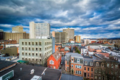 View of houses and buildings in downtown Harrisburg, Pennsylvani Stock Images