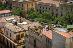 View at houses of Cagliari, Sardinia from above Royalty Free Stock Images