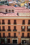 View at houses of Cagliari, Sardinia from above Royalty Free Stock Photos