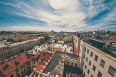 View of houses in centre. Of city. Russia stock image