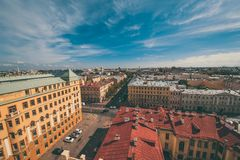 View of houses in centre. Of city. Russia Royalty Free Stock Photos