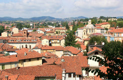 View at the houses and church towers, Chieri Stock Photography