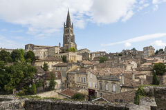 View on Houses and Church Winedistrict Saint-Emilion Stock Photos
