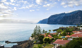 View of houses and cliffs Royalty Free Stock Images