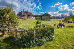 View of houses in Kossovo village,  Belarus. Stock Photo