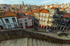 View of the houses in old Porto Stock Images