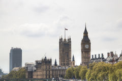 View of the Houses of Parliament and Big Ben tower in London, UK Royalty Free Stock Photo