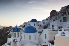 View of houses and picturesque in Santorini island, Aegean sea Stock Photography