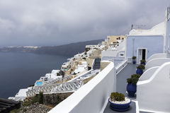 View of houses and picturesque in Santorini island, Aegean sea Royalty Free Stock Photos