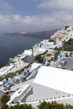 View of houses and picturesque in Santorini island, Aegean sea Royalty Free Stock Photography