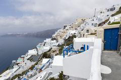 View of houses and picturesque in Santorini island, Aegean sea Stock Images