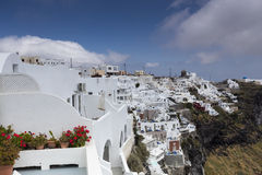 View of houses and picturesque in Santorini island, Aegean sea Royalty Free Stock Image