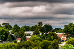 View of houses in a residential area in Shrewsbury, Pennsylvania Stock Photography