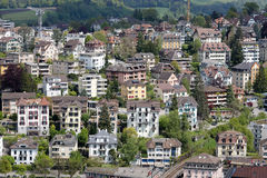 View of the housing district, Lucerne Stock Photos