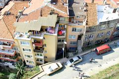 View of housing in Istanbul stock photo