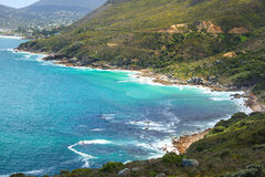 View of Hout Bay from Chapmans Peak - Cape Town Royalty Free Stock Images
