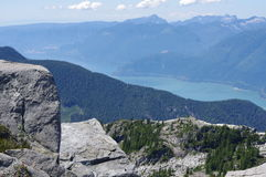 View of Howe sound in British Columbia royalty free stock images